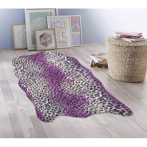 Tapis Post leopard violet 75x122