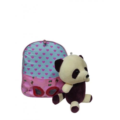 Mini Sac À Dos Bébé Avec Peluche Pour Fille Et Garçon ROSE CLAIRE/BLEU CIEL