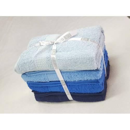 paque serviette 50X90  4 PCS bleu