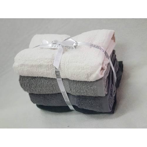 paque serviette 50X90  4 PCS gris