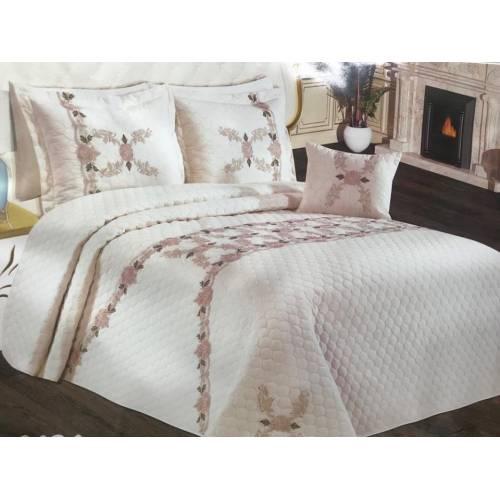 Evlen yatak couvre lit  4 Pièce_ blanc sale