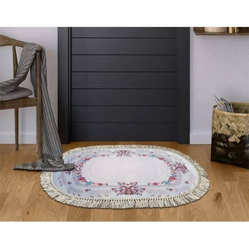 dekoreko tapis Antidérapant oval SNM  avec boucle 80x120 cm