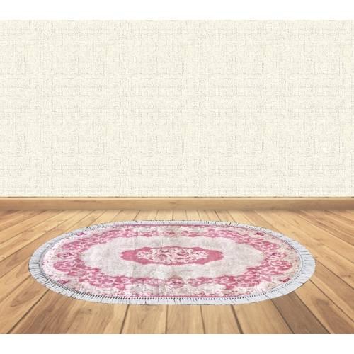 dekoreko tapis Antidérapant oval 5 EMBE avec boucle 80x130 cm