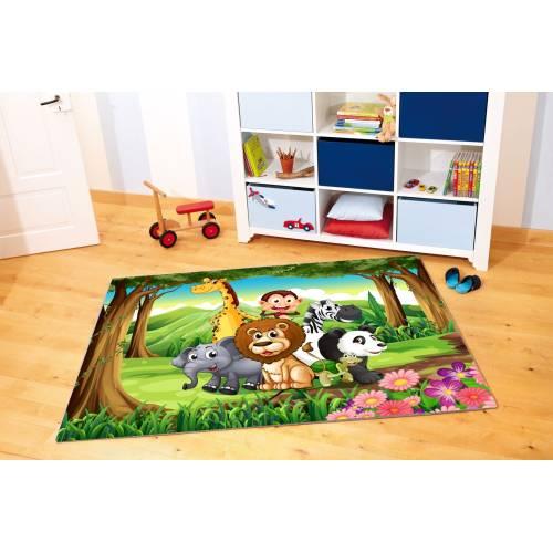 Tapis Dekoreko pour Enfants Patchwork rose (5034) 120x160