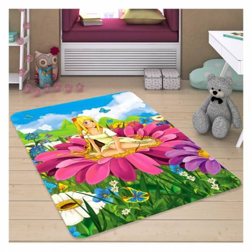 Tapis Dekoreko pour Enfants Patchwork rose (5048) 120x160