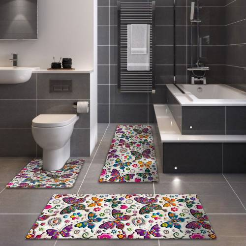 Tapis de Bain 3D Patchwork 3 Pieces