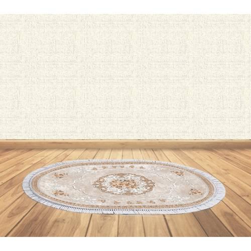 dekoreko tapis Antidérapant oval 5111 avec boucle 80x130 cm