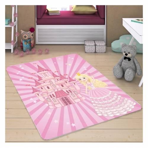 Tapis Dekoreko pour Enfants Patchwork rose (H-141) 120x160