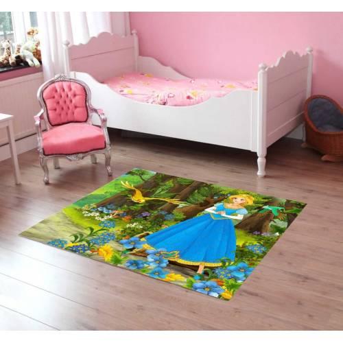 Tapis Dekoreko pour Enfants Patchwork rose (5049) 120x160