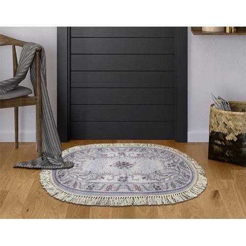 dekoreko tapis Antidérapant oval H-101  avec boucle 80x120 cm