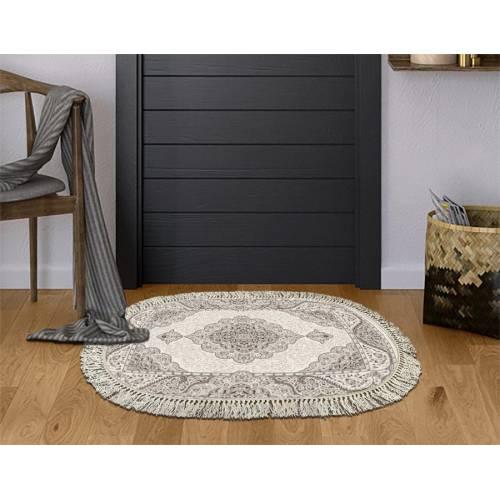 dekoreko tapis Antidérapant oval H-103 avec boucle 80x120 cm