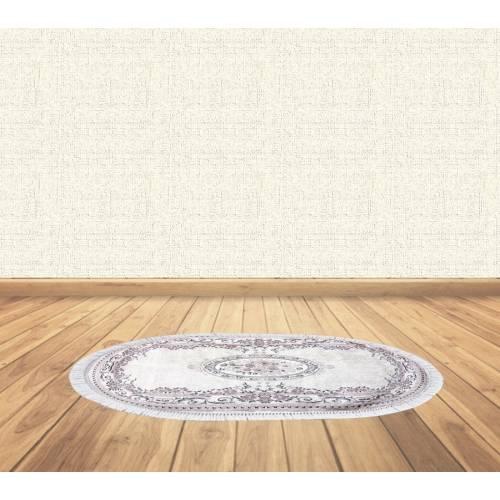 dekoreko tapis Antidérapant oval H-135 avec boucle 60X80 cm