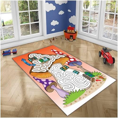 Tapis Dekoreko pour Enfants Patchwork rose (h-144) 120x160