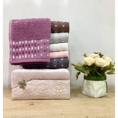 parure serviette 6 pièces multicouleur (30x50)