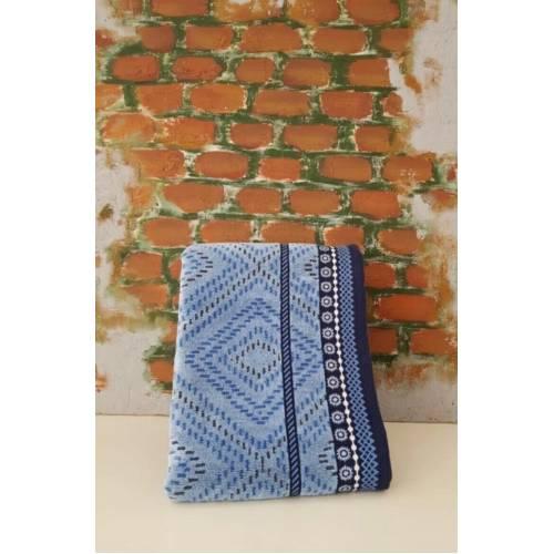 serviette 1 pièces bleu 50X90