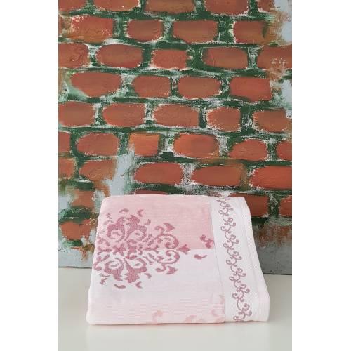 serviette 1 pièces rose 50X90