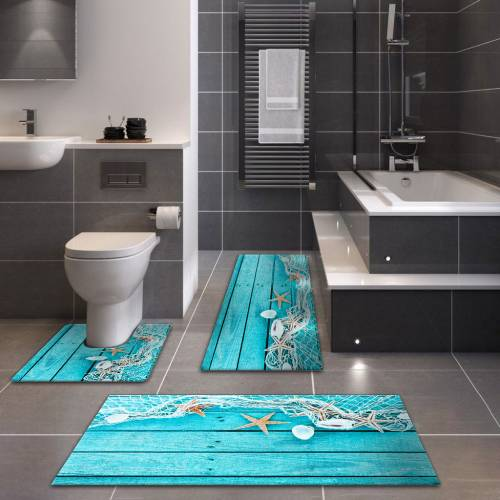 Tapis de Bain 3D Patchwork 3 Pieces (S-007)