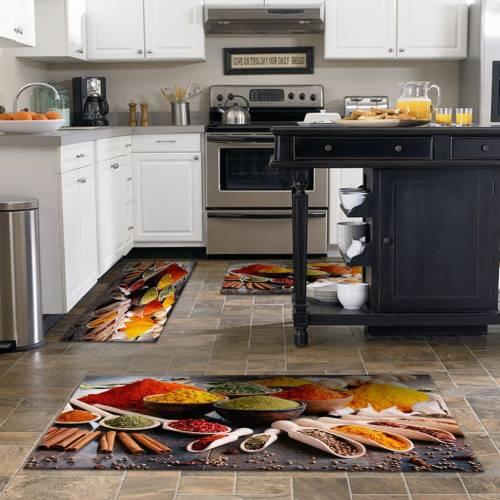 Tapis de cuisine 3D patchwork 3 pièces
