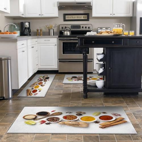 Tapis de cuisine 3D patchwork 3 pièces (OLD) - (DE-BL)