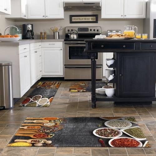 Tapis de cuisine 3D  patchwork 3 pièces - (DE-BL)