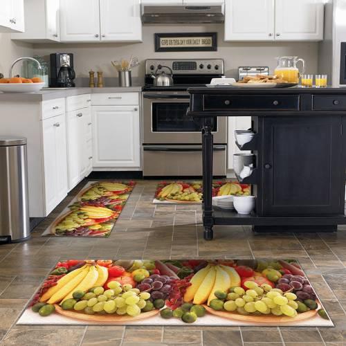 Tapis de cuisine 3D patchwork 3 pièces (NEW) - (DE-BL)