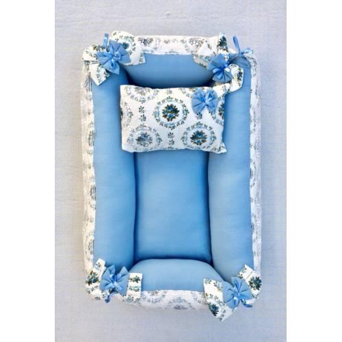 Dekoreko landeau pour bébé bleu a fleur