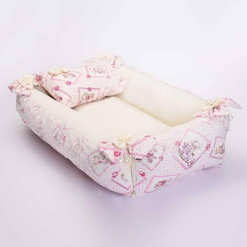 Dekoreko landeau pour bébé_ Blanc / rose