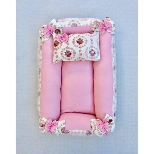 Dekoreko landeau pour bébé marin rose-blanc
