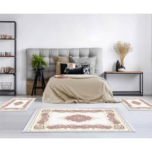 Descent de lit 3 Pcs Rectangulaire (H-004) Tapis 160x230+ 60x90(2Pieces)