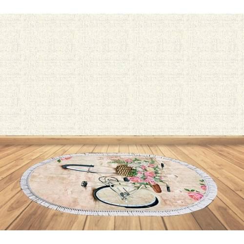 dekoreko tapis Antidérapant oval 5092 avec boucle 80x120 cm