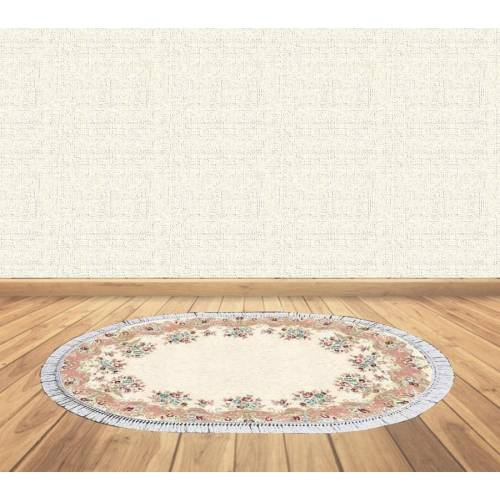 dekoreko tapis Antidérapant oval 5070 avec boucle 80x130 cm