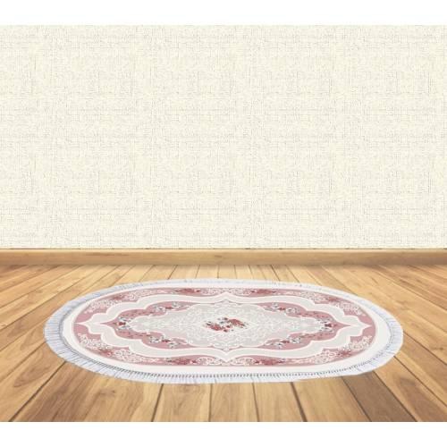 dekoreko tapis Antidérapant oval 5090 avec boucle 60x80 cm