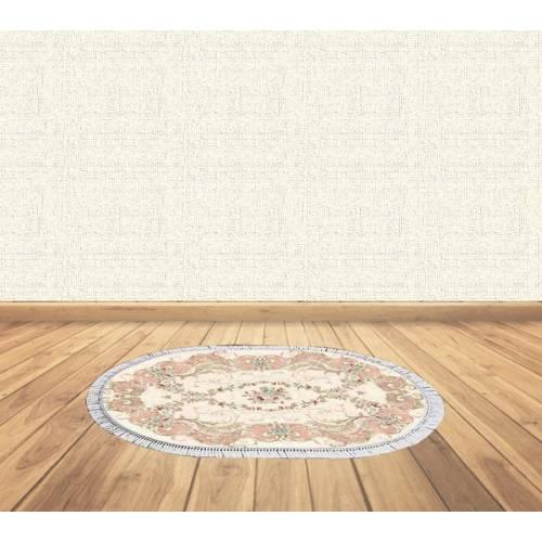 Dekoreko tapis Antidérapant oval 5069  avec boucle 60X80 cm
