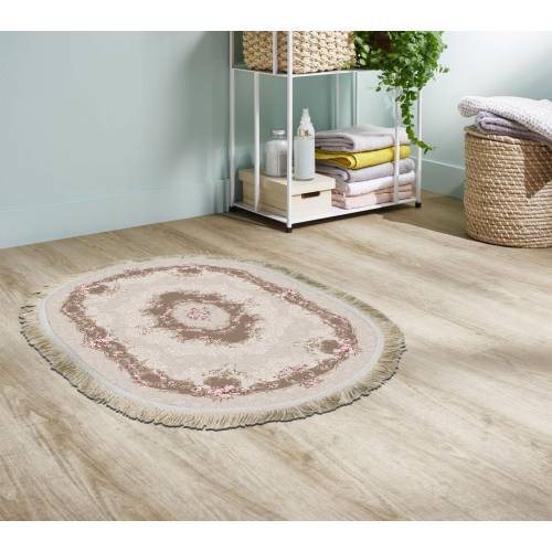 Tapis Cuir Oval 60x80 cm