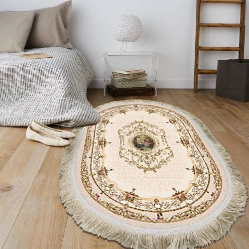 Tapis Oval Cuir 80x120