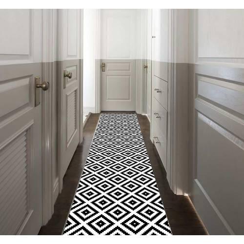 Tapis De Couloir 80x300 Rectangulaire (5084) - (DE-BL)