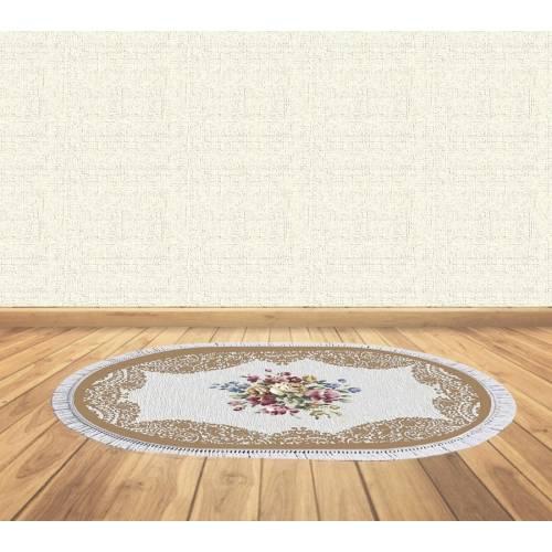 dekoreko tapis Antidérapant oval 5112 avec boucle 80x120 cm