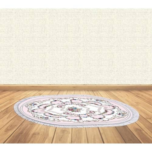 dekoreko tapis antidérapant oval 5104 avec boucle 80x130 cm
