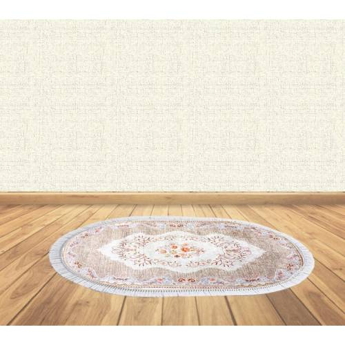 dekoreko tapis antidérapant oval H-068 avec boucle 80x120 cm