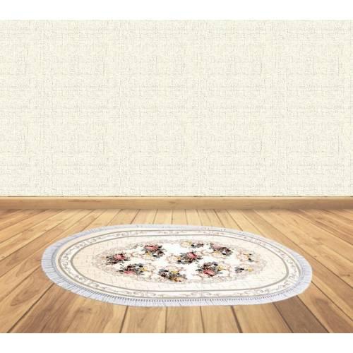 dekoreko tapis Antidérapant oval 5023 avec boucle 80x120 cm