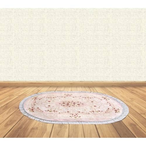 dekoreko tapis Antidérapant oval H-088 avec boucle 80x130 cm